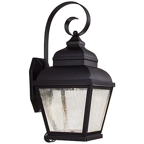 "Mossoro 17 3/4"" High Black LED Outdoor Wall Light"