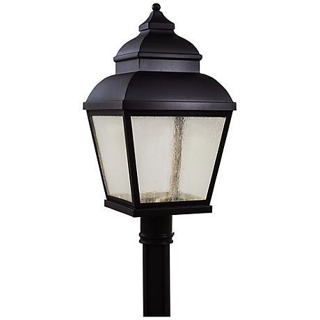 "Mossoro 23 1/2"" High Black LED Outdoor Post Light"