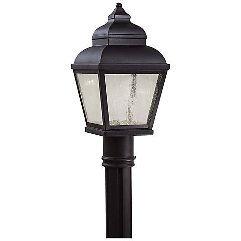 "Mossoro 16 3/4"" High Black LED Outdoor Post Light"