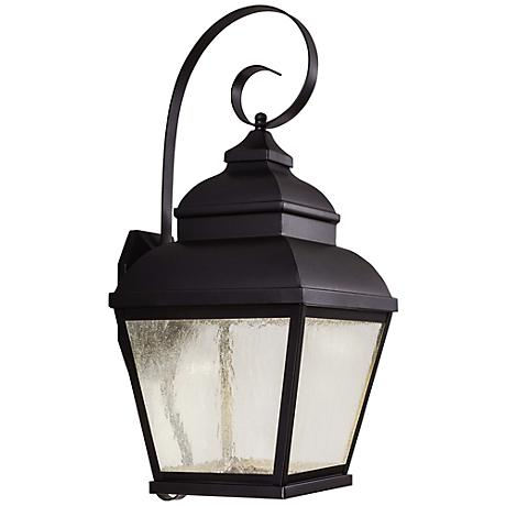 "Mossoro 26 3/4"" High Black LED Outdoor Wall Light"