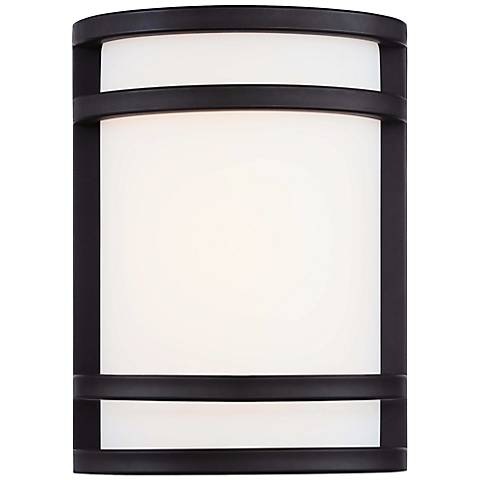 "Bay View 9 1/2"" High Oil Rubbed Bronze Outdoor LED Light"