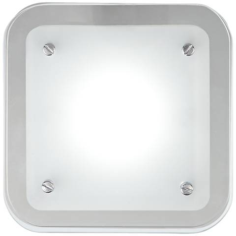 "Elin Chrome 5 1/2"" Square Frosted Glass LED Wall Sconce"