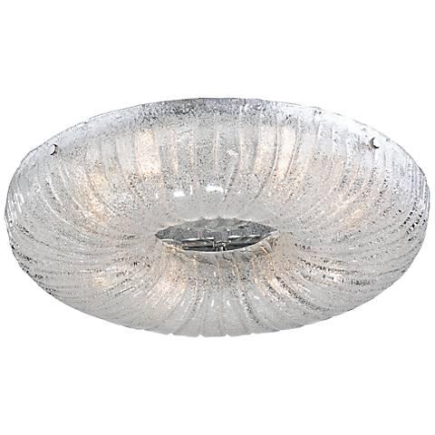"Eurofase Spectra 17 3/4"" Round Sugar Glass Ceiling Light"