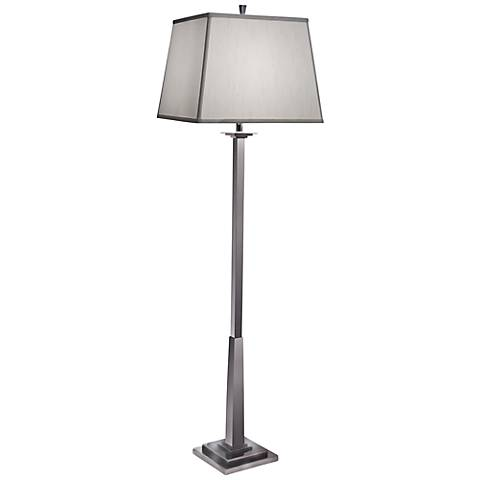 Stiffel Square Shade Black Nickel Floor Lamp