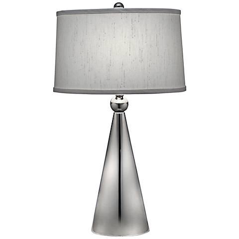 Stiffel Polished Nickel Modern Table Lamp