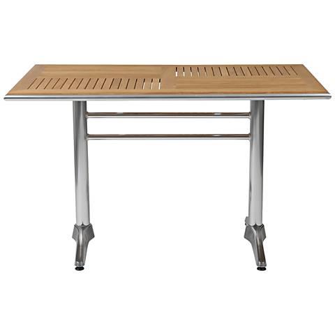Sherwood Teak Top Aluminum Dining Table