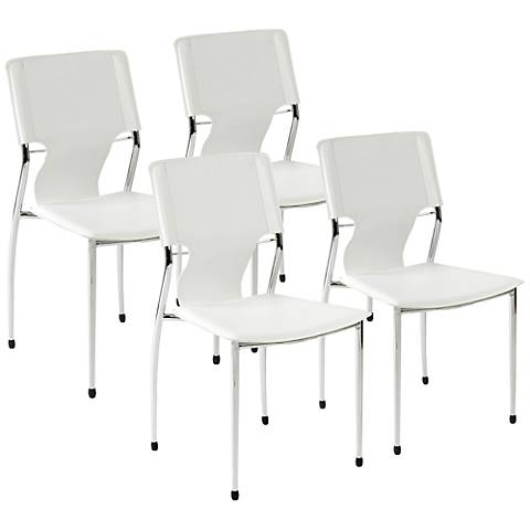Terry White Stackable Side Chair Set of 4