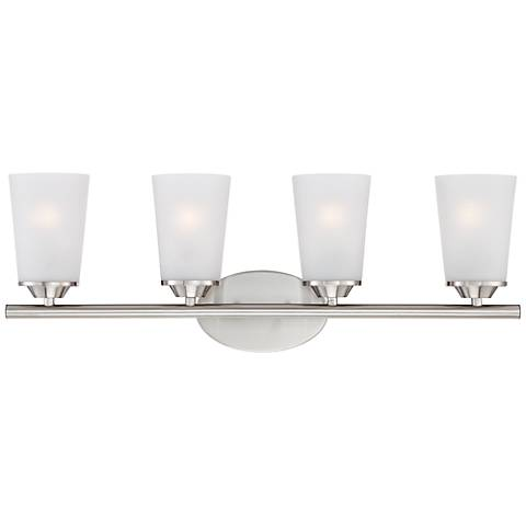 "Masterton 4-Light 26 1/4"" Wide Satin Nickel Bath Light"