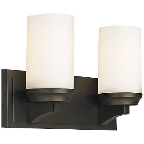 "Feiss Amalia 14"" Wide Bronze Bathroom Light"