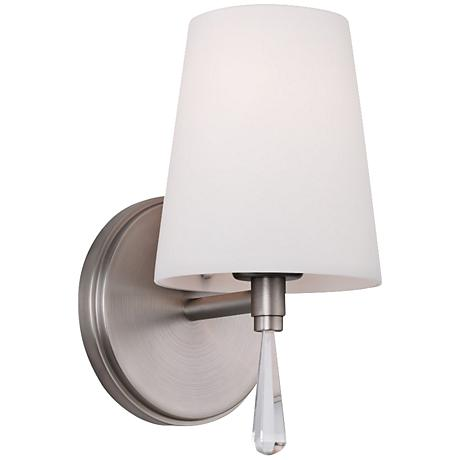 """Feiss Monica 9"""" High Satin Nickel Wall Sconce"""
