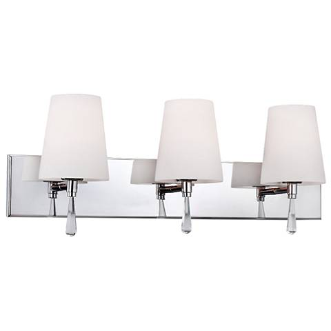 "Chrome Bathroom Light feiss monica 25"" wide chrome bathroom light - #6d722   lamps plus"