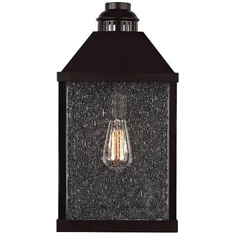 """Feiss Lumiere 18 1/2"""" High Bronze Outdoor Wall Light"""