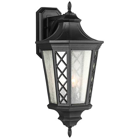 "Feiss Wembley Park 9 1/4"" High Black Outdoor Wall Light"