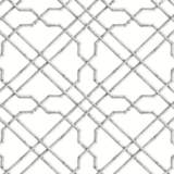 York Sure Strip White and Gray Bamboo Trellis Wallpaper