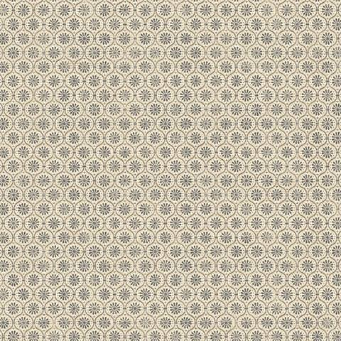 York Sure Strip Beige Small Medallion Pre-Pasted Wallpaper