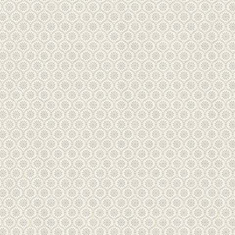 York Sure Strip Gray Small Medallion Pre-Pasted Wallpaper