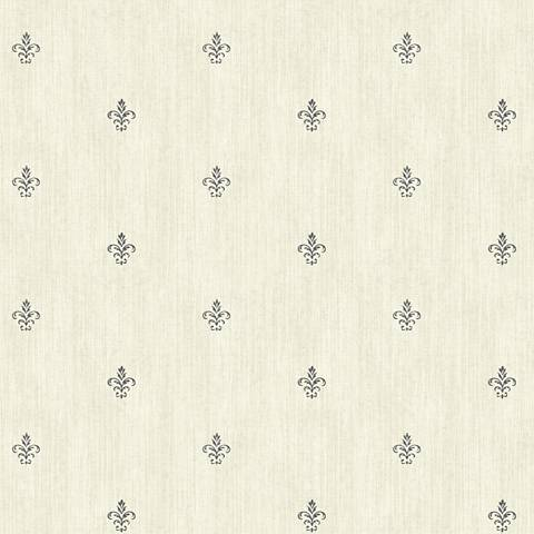 York Sure Strip Cream Cabana Fleur-De-Lis Wallpaper