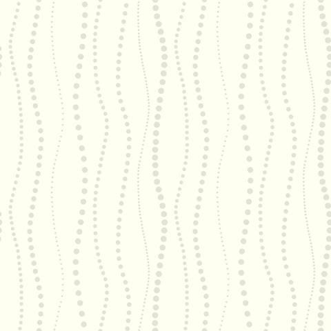York Sure Strip Silver Dotty Stripe Pre-Pasted Wallpaper