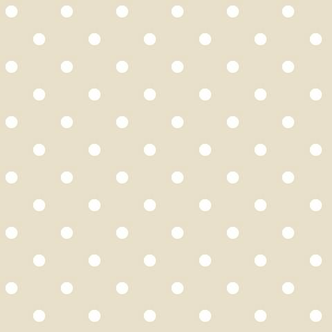 York Sure Strip Cream Polka Dot Circle Pre-Pasted Wallpaper