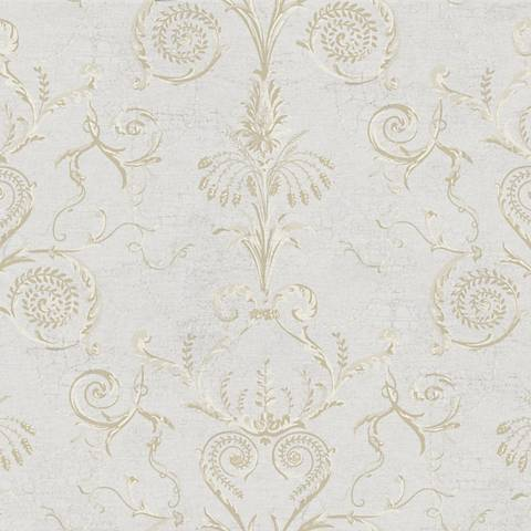 York Sure Strip Tan Neo Classic Damask Pre-Pasted Wallpaper
