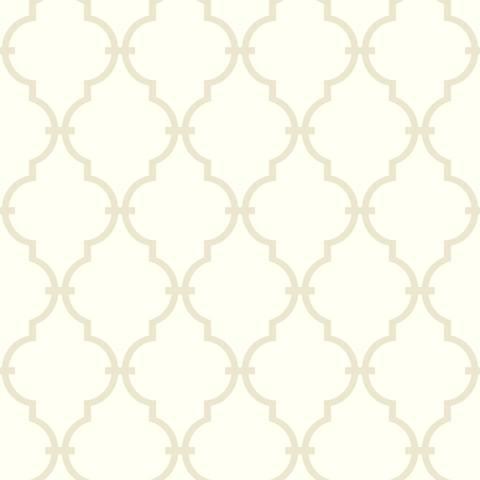 York Sure Strip White Modern Trellis Pre-Pasted Wallpaper