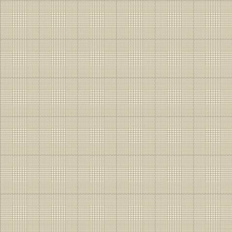 York Sure Strip Cream Harris Plaid Pre-Pasted Wallpaper