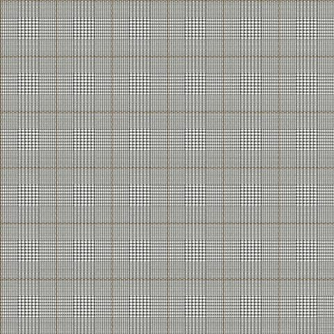 York Sure Strip Brown Harris Plaid Pre-Pasted Wallpaper