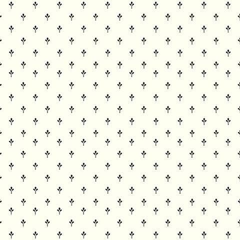 York Sure Strip Black Ditsy Fleur-de-Lis Wallpaper