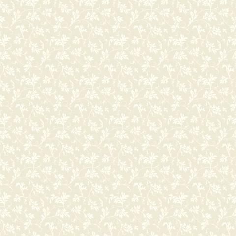 York Sure Strip Cream Small Leaf Pre-Pasted Wallpaper