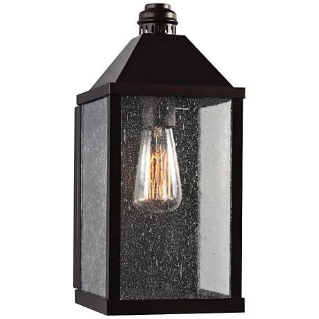 """Feiss Lumiere 14"""" High Bronze Outdoor Wall Light"""