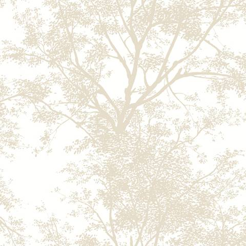York Sure Strip Tan Tree Silhouette Pre-Pasted Wallpaper