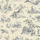 York Sure Strip Tan Scenic Toile Pre-Pasted Wallpaper