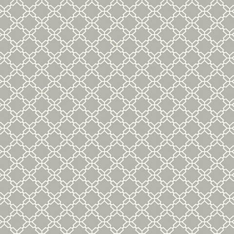 York Sure Strip Gray Geometric Trellis Wallpaper