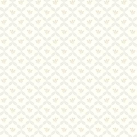 York Sure Strip Pale Gray Ribbon Harlequin Wallpaper