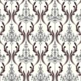 York Sure Strip Silver Chandelier Damask Wallpaper
