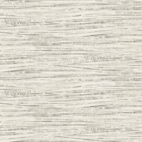 York Sure Strip Cream Newsprint Pre-Pasted Wallpaper