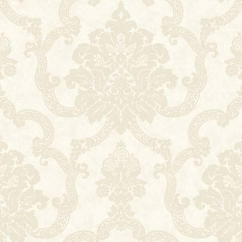 York Sure Strip Pearl Decorative Damask Wallpaper