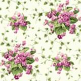 York Sure Strip Green Waverly Sweet Violets Wallpaper
