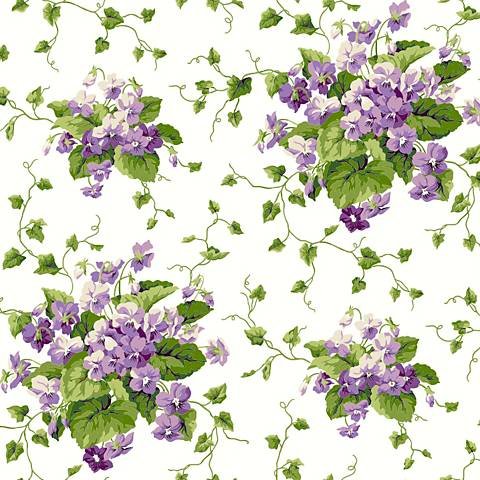 York Sure Strip Purple Waverly Sweet Violets Wallpaper