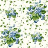 York Sure Strip Blue Waverly Sweet Violets Wallpaper