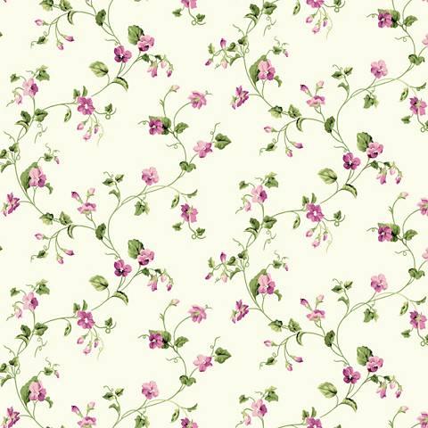 York Sure Strip Pink Waverly Sweet Violets Trail Wallpaper