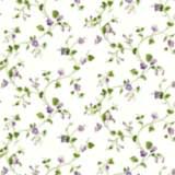 York Sure Strip Purple Waverly Sweet Violets Trail Wallpaper