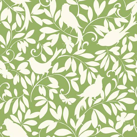 York Sure Strip Green Waverly Birdsong Removable Wallpaper