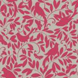 York Sure Strip Magenta Waverly Birdsong Removable Wallpaper