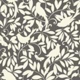 York Sure Strip Gray Waverly Birdsong Removable Wallpaper