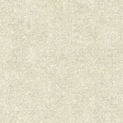 York Sure Strip Cream Waverly Pen Pal Removable Wallpaper
