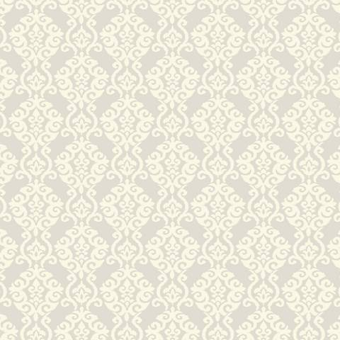 York Sure Strip Silver Waverly Luminary Removable Wallpaper