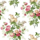 York Sure Strip Pink Waverly Emma's Garden Wallpaper