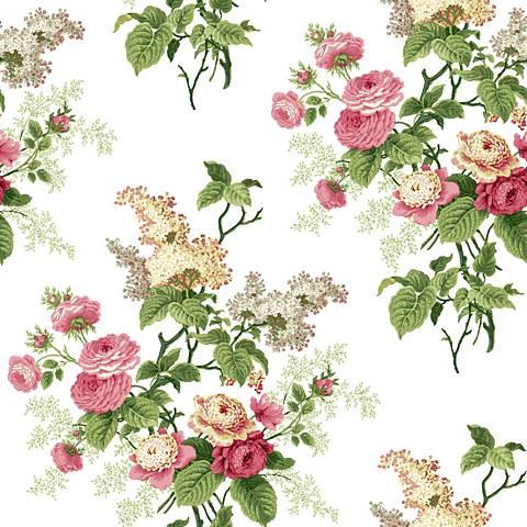 York Sure Strip Pink Waverly Emma's Garden Wallpaper