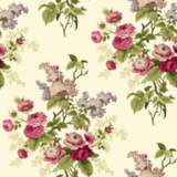 York Sure Strip Magenta Waverly Emma's Garden Wallpaper